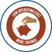 Low operating cost - more savings