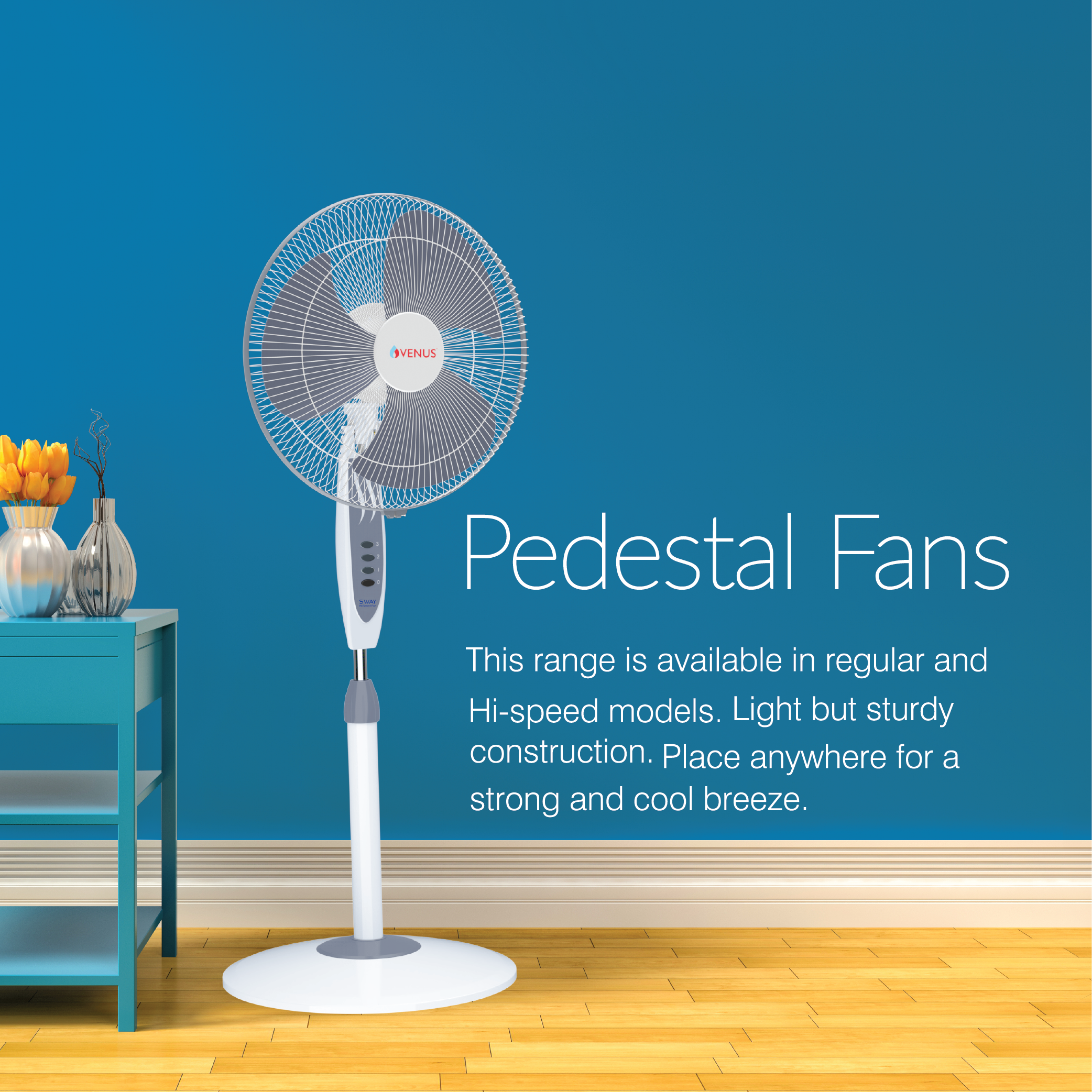 Sway Hi-speed Pedestal Fan - SHP400